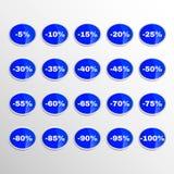 Realistischer Aufkleber-Rabatt Stockfotografie