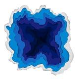 Realistischer blauer See Materieller Designhintergrund des Vektors Lizenzfreies Stockfoto
