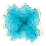 Realistischer blauer See Moderner materieller Designhintergrund Lizenzfreie Stockbilder
