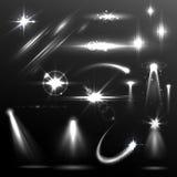 Realistischer Blendenfleck-und Lichteffekt-Element Lizenzfreie Stockfotografie