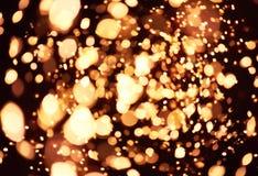 Realistischer Blendenfleckstern beleuchtet schwarzen Hintergrund horizontal Lizenzfreies Stockfoto