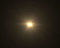 Realistischer digitaler Blendenfleck im schwarzen Hintergrund Stockfoto