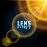 Realistischer eingestellter Lichtstrahl Der Effekt des Sonnenaufflackerns Helle Beleuchtung Auch im corel abgehobenen Betrag vektor abbildung
