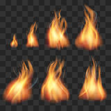 Realistischer Feueranimationselfeflammen-Vektorsatz lizenzfreie abbildung