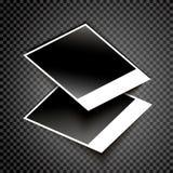 Realistischer Fotokartenvektor lizenzfreie abbildung