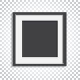 Realistischer Fotorahmen auf lokalisiertem Hintergrund Bilderrahmen vec Lizenzfreie Stockfotografie