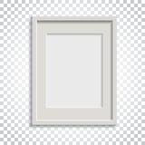 Realistischer Fotorahmen auf lokalisiertem Hintergrund Bilderrahmen vec Lizenzfreie Stockbilder