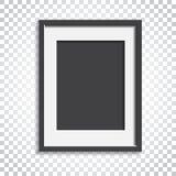 Realistischer Fotorahmen auf lokalisiertem Hintergrund Bilderrahmen vec Stockfoto