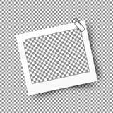 Realistischer Fotorahmen mit Klipp Schablonenfotodesign Stockbilder