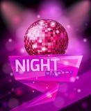 Realistischer heller Hintergrund, schöne Designplakatschablone für Nachtpartei, Feier Stockfoto