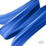 realistischer Hintergrund 3d mit blauem Bürstenanschlagöl oder Acrylfarbe Wellen-Flüssigkeitsform Modisches Design stock abbildung