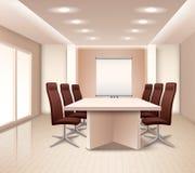 Realistischer Konferenzzimmer-Innenraum Lizenzfreies Stockbild