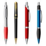 Realistischer Kugelschreibersatz Lizenzfreies Stockbild