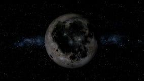 Realistischer Mond stock video