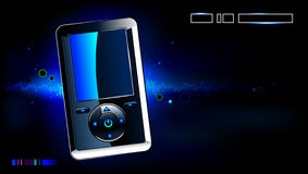 Realistischer MP3-Player Stockfoto