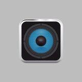 Realistischer Musiksprecher auf einem hellen Hintergrund Lizenzfreie Stockfotografie