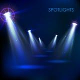 Realistischer Scheinwerferlicht-Effekt Lizenzfreies Stockfoto