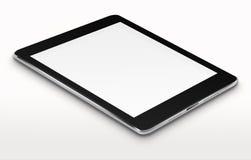 Realistischer Tablet-Computer mit leerem Bildschirm Stockfoto