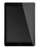 Realistischer Tablet-Computer mit schwarzem Schirm Stockfotos
