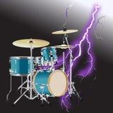 Realistischer Trommelausrüstung Hintergrund 3 Lizenzfreie Stockfotos