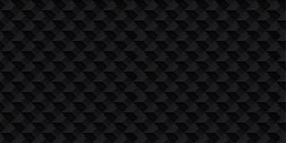 Realistischer Vektor des Volumens berechnet Beschaffenheit, dunkler geometrischer nahtloser Fliesen Muster, Entwurfsschwarzhinter stock abbildung