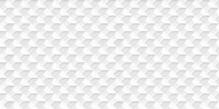 Realistischer Vektor des Volumens berechnet Beschaffenheit, heller geometrischer nahtloser Fliesen Muster, Entwurf, den weißer Hi stock abbildung