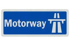 Realistisches ausführliches ?Autobahn? Zeichen des Fotos Lizenzfreie Stockbilder