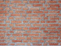 Realistisches Beschaffenheits-Design Wand des roten Backsteins Leerer Hintergrund des roten Backsteins für Darstellungen und Webd Lizenzfreie Stockfotografie