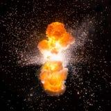 Realistisches Bombenexplosionssprengen Stockfotografie
