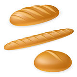 Realistisches Brot drei Stockfotografie