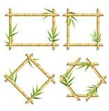 Realistisches 3d führte die eingestellten Bambusschoss-Rahmen einzeln auf Vektor Stockbild