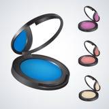 Realistisches eyeshadow&powder&rouge&blush lizenzfreie abbildung
