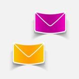 Realistisches Gestaltungselement: Newsletter Lizenzfreies Stockbild