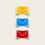 Realistisches Gestaltungselement: Newsletter Stockbild