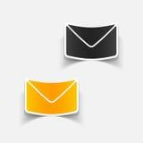 Realistisches Gestaltungselement: Newsletter Lizenzfreie Stockfotos