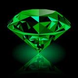 Realistisches glänzendes grünes Smaragdjuwel Lizenzfreies Stockbild