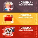 Realistisches Kinofilmplakat Stockbild