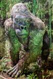 Realistisches Modell des prähistorischen Tieres Stockfotografie
