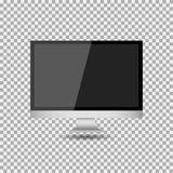 Realistisches modernes, leerer Bildschirm lcd, geführt, Fernsehen, Monitor auf Isolathintergrund mit Sockel Auch im corel abgehob lizenzfreie abbildung