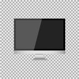 Realistisches modernes, leerer Bildschirm lcd, geführt, Fernsehen, Monitor auf Isolathintergrund mit Sockel Auch im corel abgehob stock abbildung