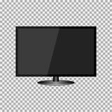 Realistisches modernes, leerer Bildschirm lcd, geführt, Fernsehen, Monitor auf Isolathintergrund mit Sockel Auch im corel abgehob vektor abbildung