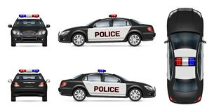 Realistisches Polizeiwagenvektormodell vektor abbildung