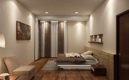 Realistisches Schlafzimmer 3D Stockfoto
