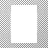Realistisches weißes Blatt Papier des freien Raumes Modell stock abbildung