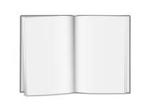 Realistisk öppen tom bok för vektor som isoleras på vit bakgrund Arkivbilder