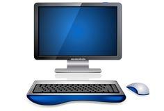 realistisk arbetsstation för dator stock illustrationer