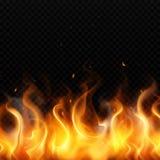 Realistisk bakgrund f?r brandflamma arkivbild