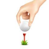 Realistisk bakgrund för golfboll Arkivbild