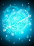 Realistisk bakgrund med ljusa viktig, blå julbakgrund Arkivbilder