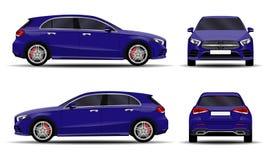 Realistisk bil hatchback Royaltyfri Fotografi